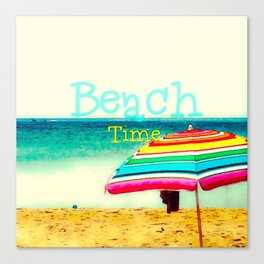 Beach time #3 Canvas Print