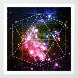 Rainbow Galaxy Sacred Geometry : Golden Rectangles Art Print