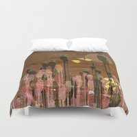 poppies Duvet Covers featuring Poppies by dominiquelandau