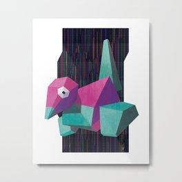 Porygon Metal Print