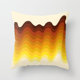 Retro Ripple Throw Pillow