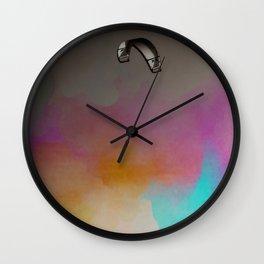Parakite Warm 2 (watercolor mashup lite) Wall Clock