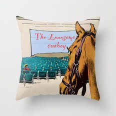 Lonesome cowboy Throw Pillow
