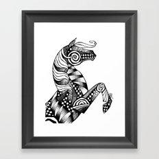 Horse Patterns Framed Art Print