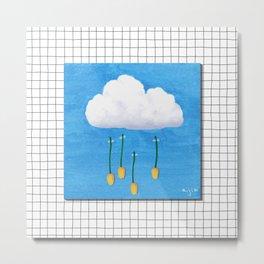 Spring Rain_ver2 Metal Print