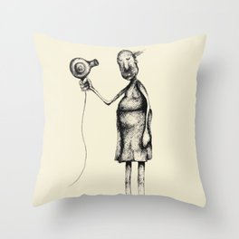 Bad Hair Days. A Faded Memory Throw Pillow