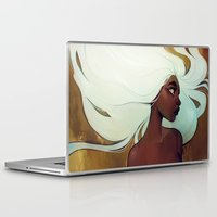 men Laptop & iPad Skins featuring glow in the dark by loish
