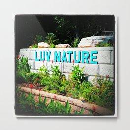 LUV Metal Print