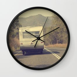Grey Nomads Wall Clock