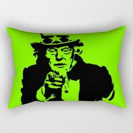 Neon Green Uncle Trump Needs You Rectangular Pillow
