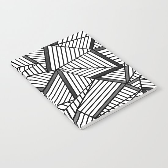 Ab Lines 2 Black and White Notebook