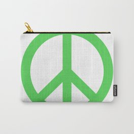 Peace (Green & White) Carry-All Pouch