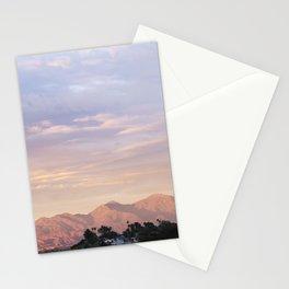 Sunset over Saddleback Mountain Stationery Cards