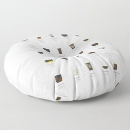 Coffee Chart - Mixed Drinks Floor Pillow