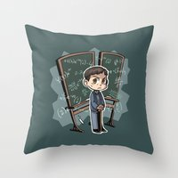 pacific rim Throw Pillows featuring Pacific Rim - Handwriting of God by feriowind