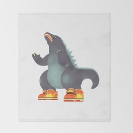 Dunkzilla Throw Blanket