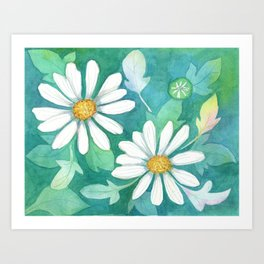 Mom's Daisies Art Print