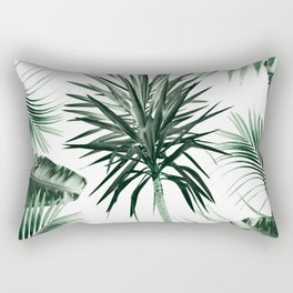 Tropical Summer Vibes Leaves Mix #2 #tropical #decor #art #society6 Rectangular Pillow