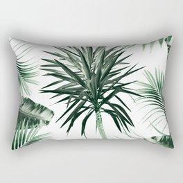 Tropical Summer Vibes Leaves Mix #2 #tropical #decor #art #society6 Rectangular Pillow
