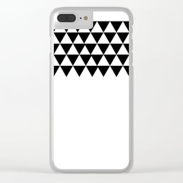 Triangle Pattern Clear iPhone Case