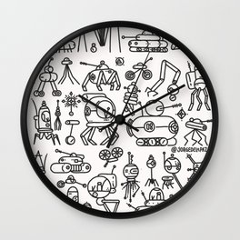 Retrofuturismo Wall Clock