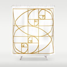 Golden Waves Shower Curtain