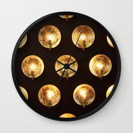 Decorative installation of incandescent lamps Wall Clock