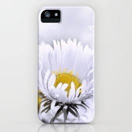 Flowers white macro 072 iPhone Case