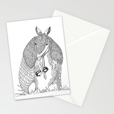 hipster 'dillo Stationery Cards