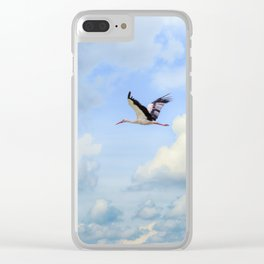 Flying stork Clear iPhone Case