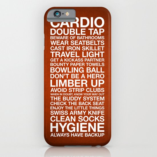 Zombieland — The Rules iPhone & iPod Case