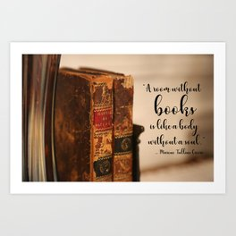 A room without books Art Print