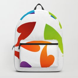 Abstract flora- colorful flower Backpack
