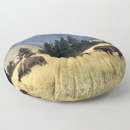 National Parks Bison Herd Floor Pillow