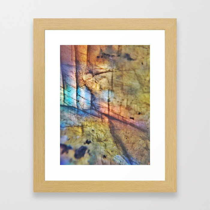 Labradorite Macro Framed Art Print