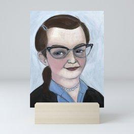 """The Haunting of Shirley"", Shirley Jackson Literary Portrait Mini Art Print"