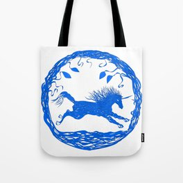 Blue Unicorn 02 Tote Bag