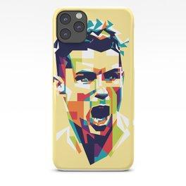 colorful illustration of ronaldo iPhone Case