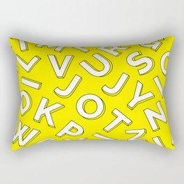 Vector Illustration White Yellow Pattern Children Learning Rectangular Pillow