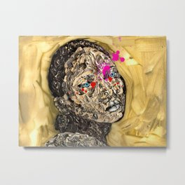 Blood Gold Girl Metal Print