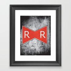 Red Ribbon Army Framed Art Print