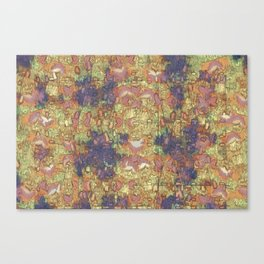 Mineral Map - Abstract Art Canvas Print
