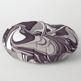 Copy of Marble No5, Abstract monochrome painting Floor Pillow