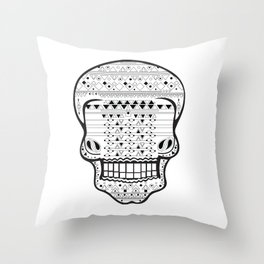 B/W Skull 1 Throw Pillow