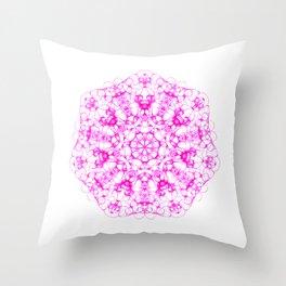 Magic Seven Mandala eden spirit bright pink Throw Pillow