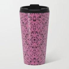 Ornament, abstract, Milena 5, purple, black Metal Travel Mug
