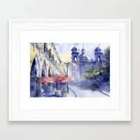 cityscape Framed Art Prints featuring Cityscape by Tania Richard