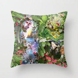 Fairy Kingdom Forest Dreamland Fantasy Stories Throw Pillow