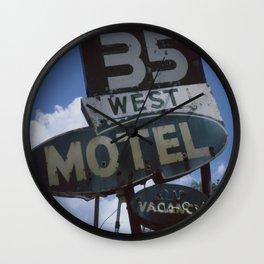 35 West Motel Wall Clock