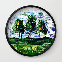 A Cluster of Trees Wall Clock